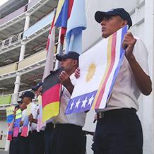 UNES DC exaltó símbolos patrios en lunes Patriótico