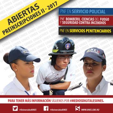 UNES inicia proceso de preinscripción II-2017