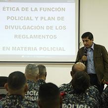 Presentado en la UNES Plan de divulgación en materia policial