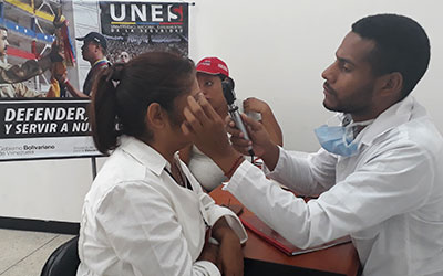 UNES Zulia realizó jornada de captación para pacientes con patologías oftalmológicas
