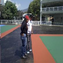 En la sede capitalina se realiza el acondicionamiento de canchas deportivas